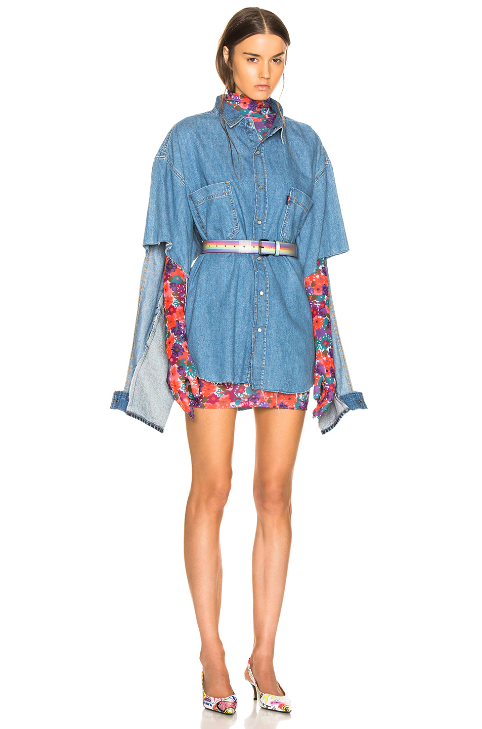 ae1a3257a46 VETEMENTS Oversized Denim Shirt  VETEMENTS Oversized Denim Shirt ...