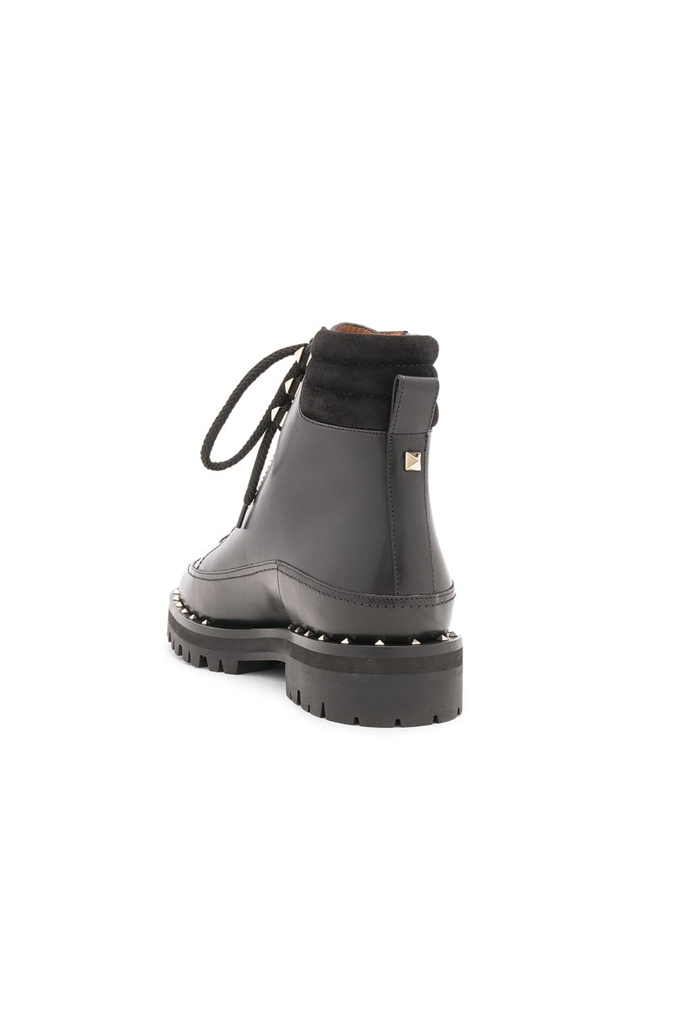 84ee2f1bff30a Buy Original Valentino Leather Soul Rockstud Hiking Boots at ...