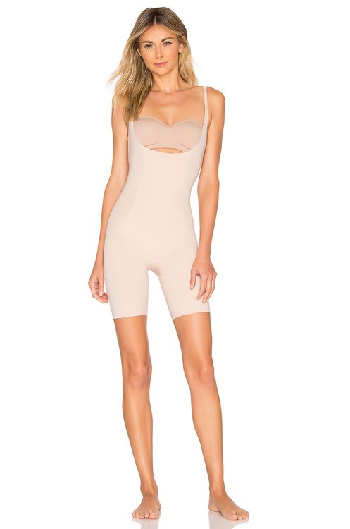 Spanx Thinstincts Open Bust Mid Thigh Bodysuit