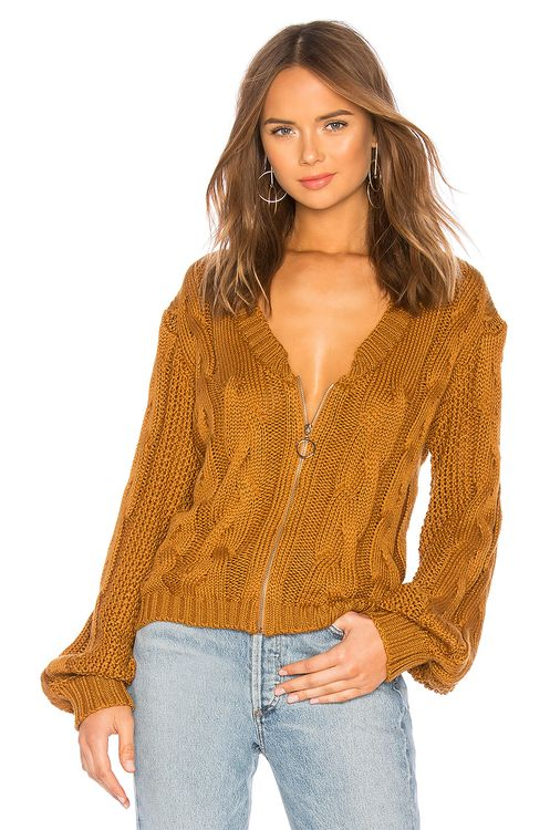 For Love & Lemons Charlotte Zip Cardigan