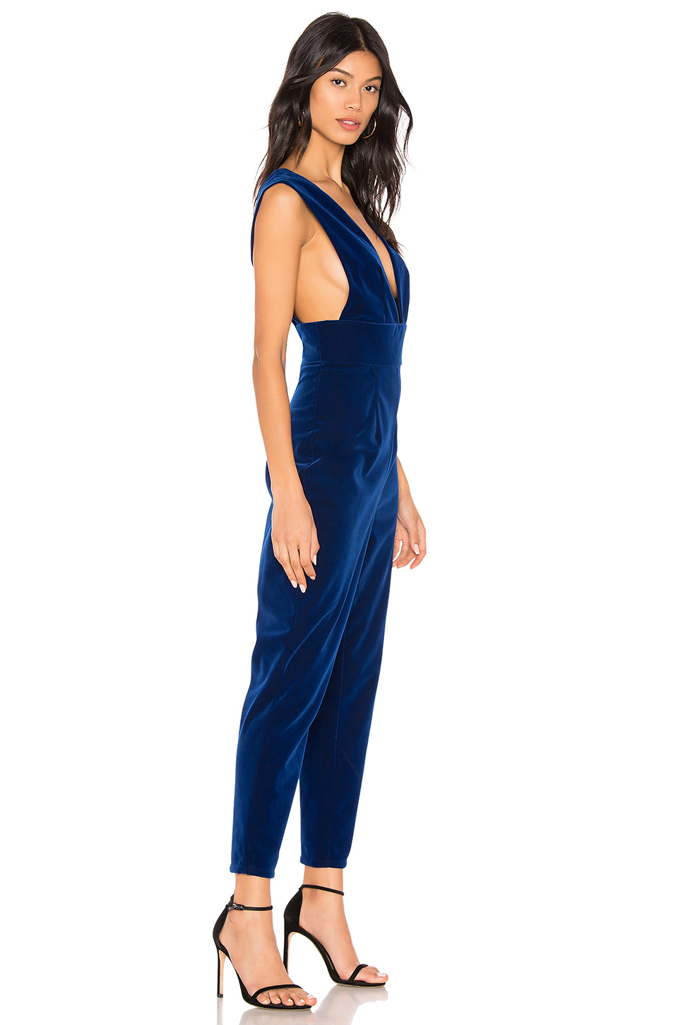 e99ef709995f Buy Original by the way. Gloria Deep V Velvet Jumpsuit at Indonesia ...