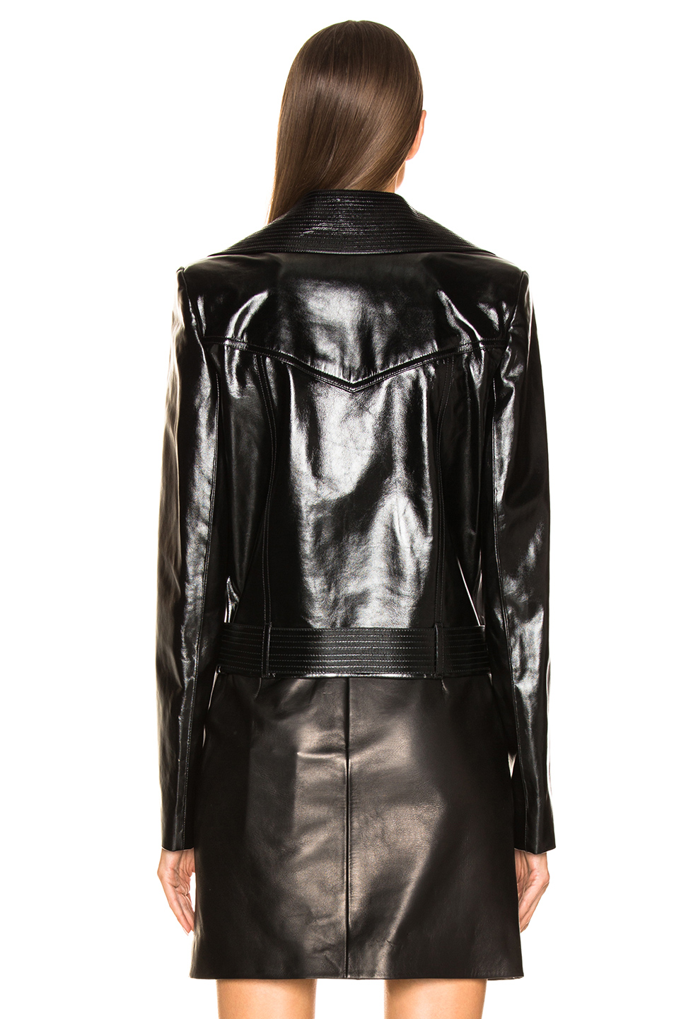 Givenchy Leather Double Breasted Moto Jacket