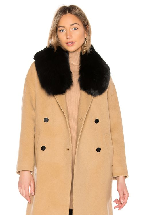 Charlotte Simone Princess Fox Fur Collar Scarf