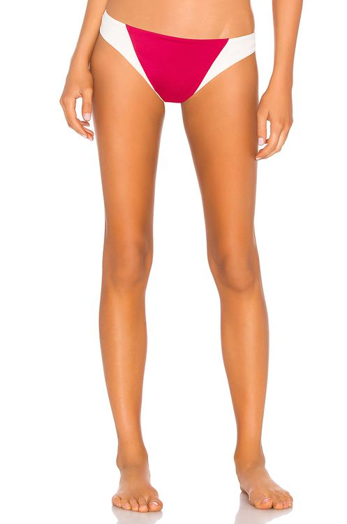Tori Praver Swimwear Maelyn High Leg Cheeky Bottom