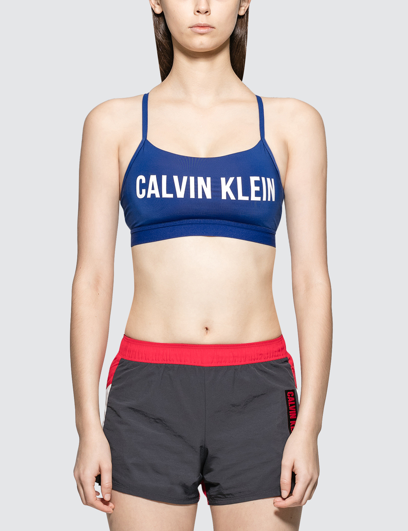 d04756eb9 ... Calvin Klein Performance Strappy Bra Top With Upper Color Panel ...