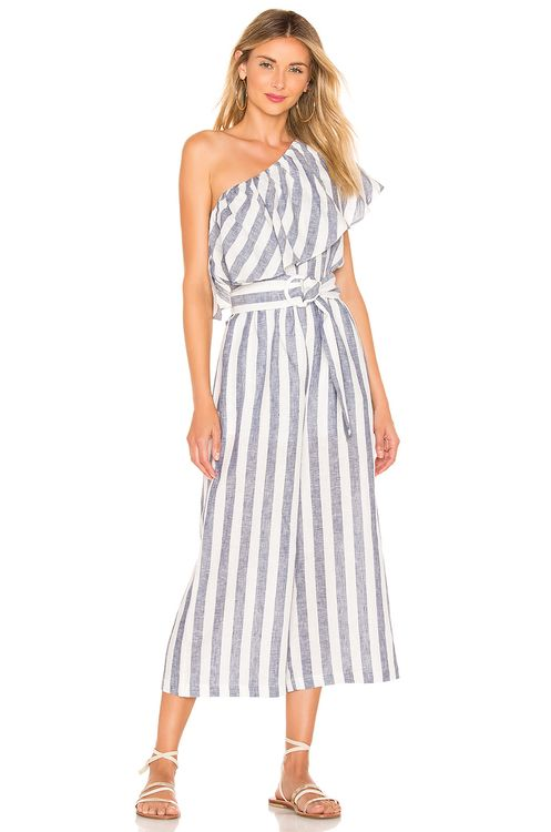 Suboo Newport One Shoulder Cropped Jumpsuit