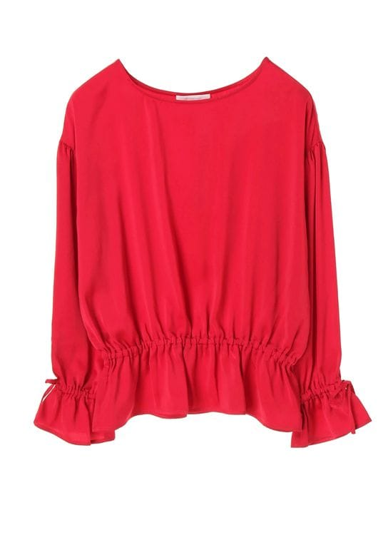 American Holic Molly Gathered Blouse - Red