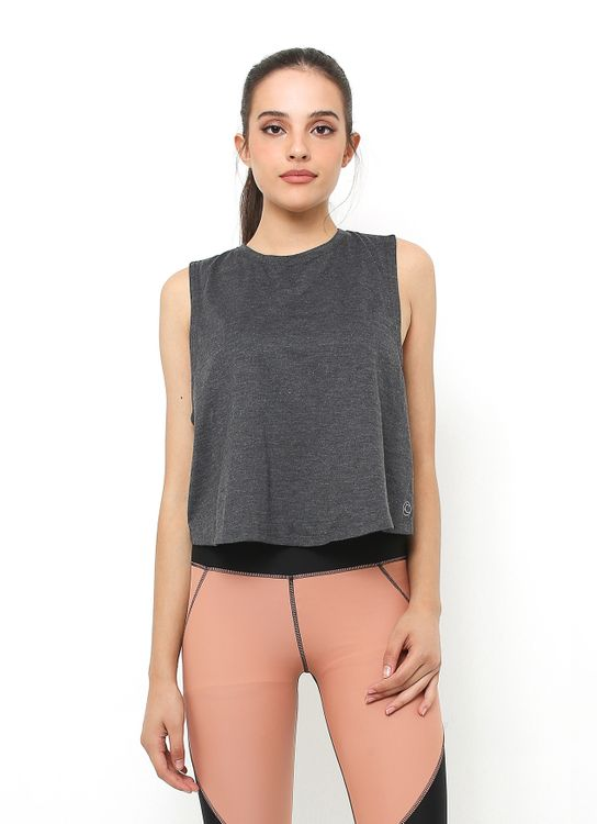 Cuca Black Cross Back Tank Top
