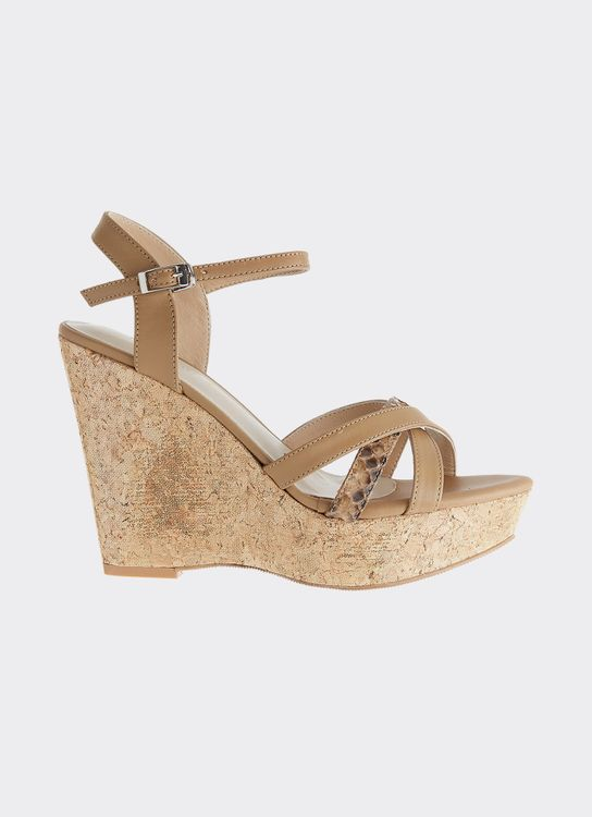 Winston Smith Camel Charlotte Wedges