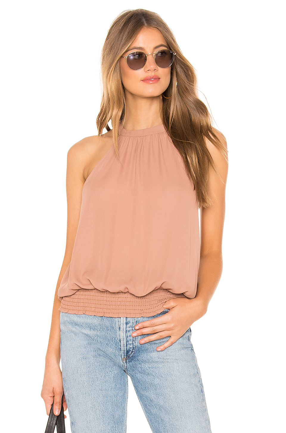 Smocked Hem Halter Top, krisa