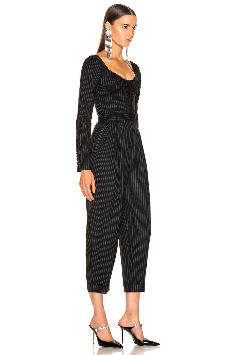 8128dced4a Buy Original Dolce & Gabbana Long Sleeve Pinstriped Jumpsuit at ...