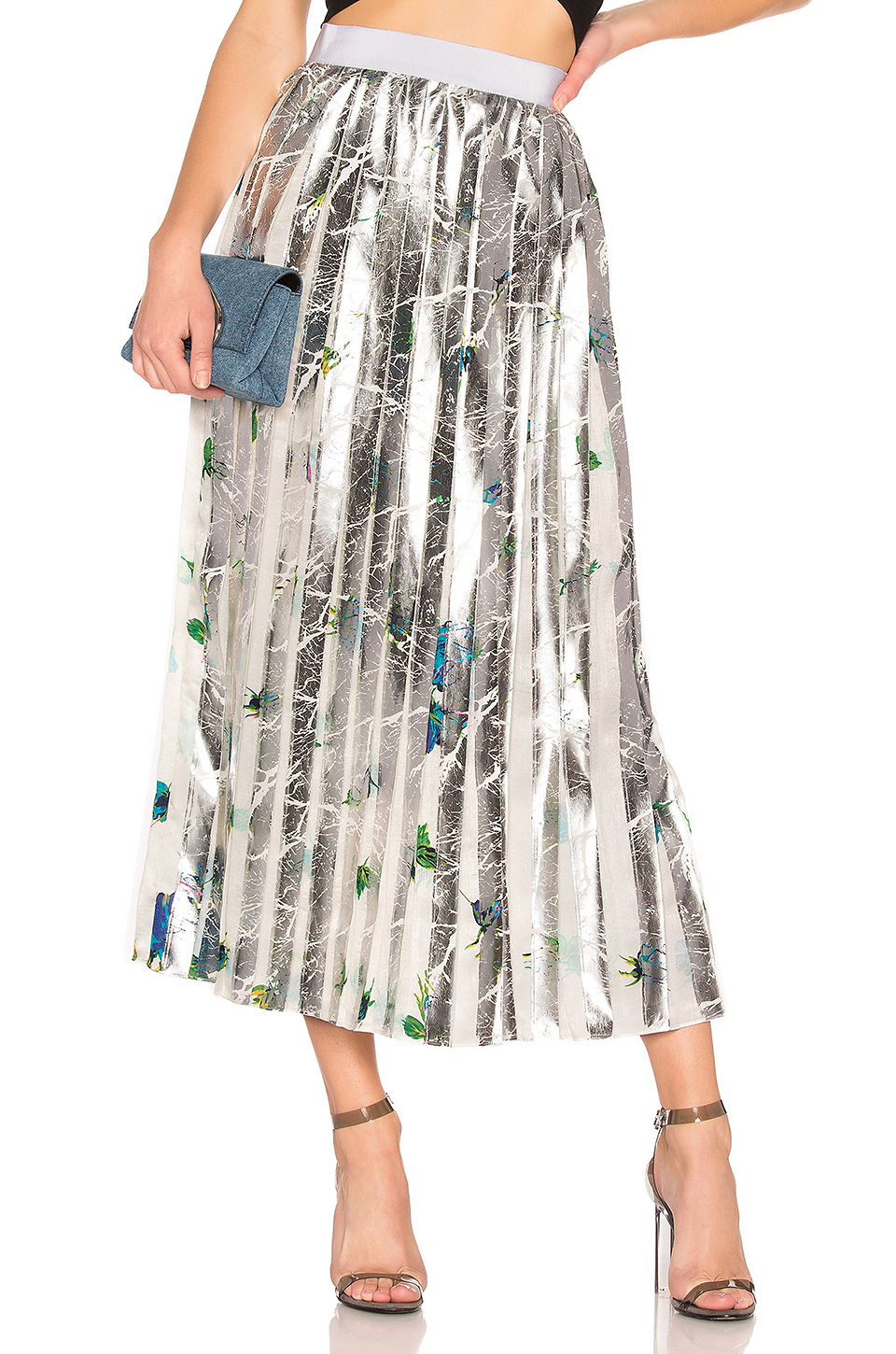 432671ae9cd4 Buy Original MSGM Floral Pleated Skirt at Indonesia | BOBOBOBO