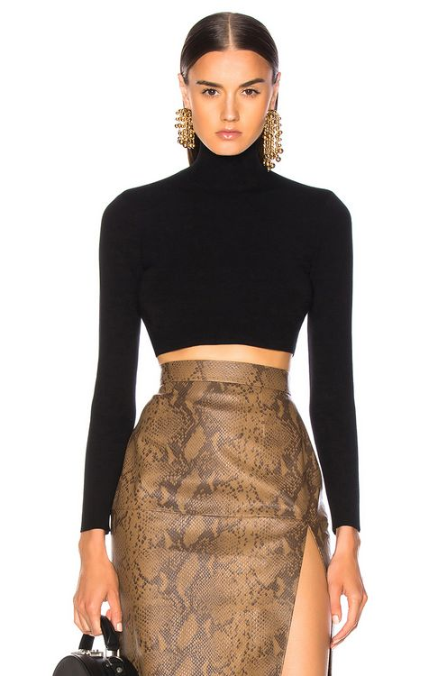 Zeynep Arcay for FWRD Turtleneck Cropped Top