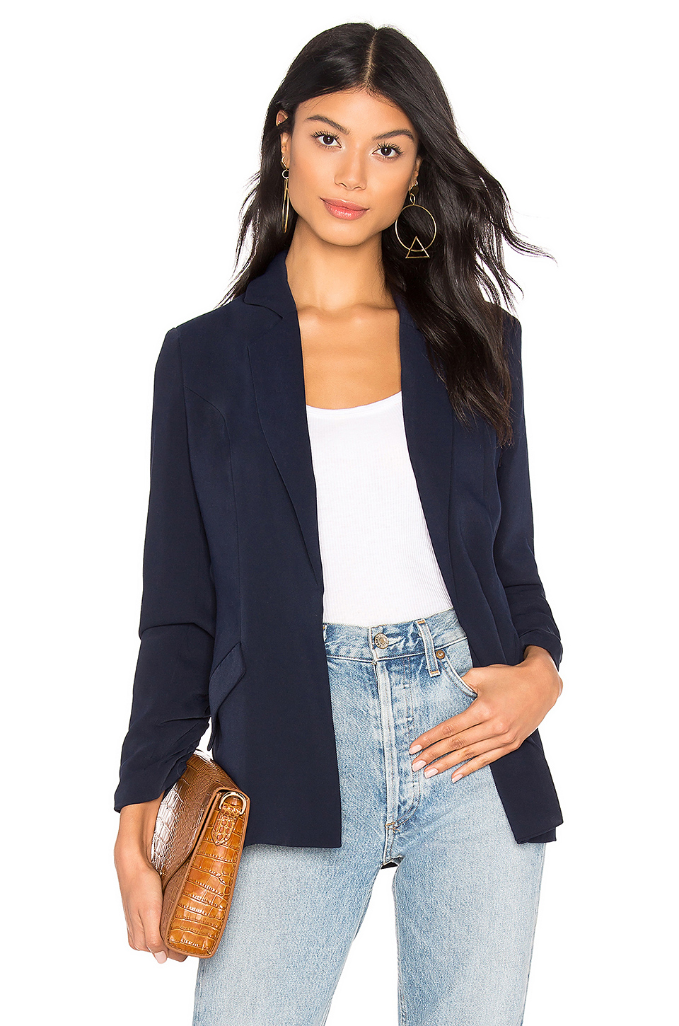 475382e7fd4e4 Buy Original About Us Kylie Ruched Sleeve Blazer at Indonesia