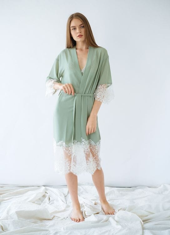 Harper House Florence Robe - Green