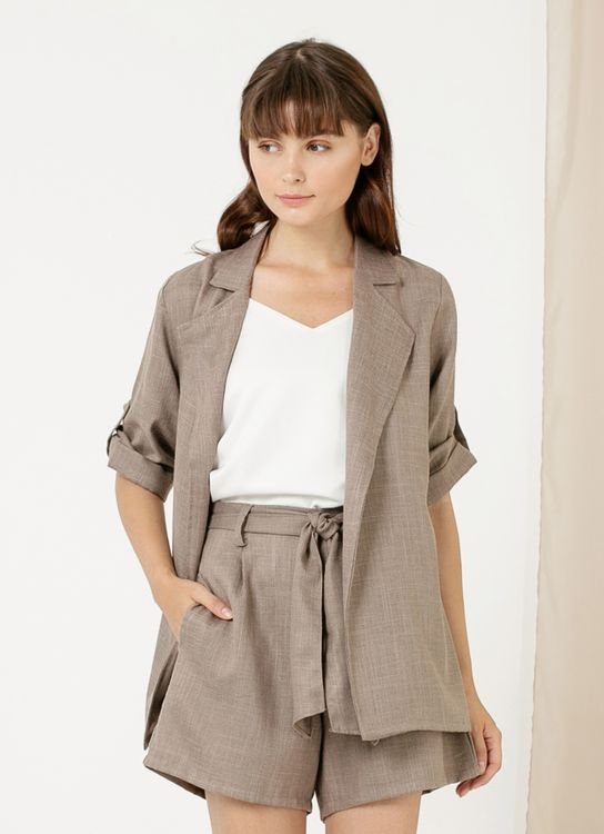 CLOTH INC Luke Oversized Outer - Taupe