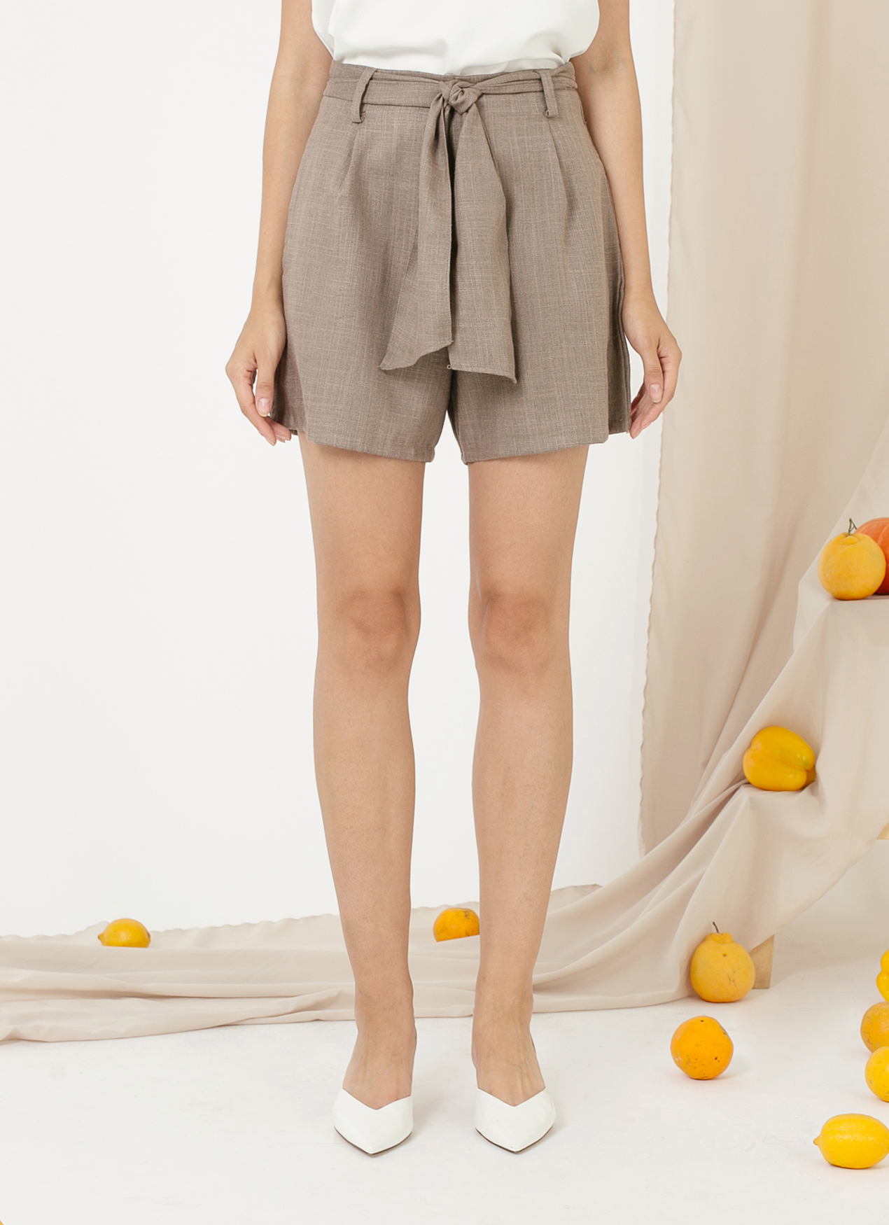 CLOTH INC Louise Shorts - Taupe