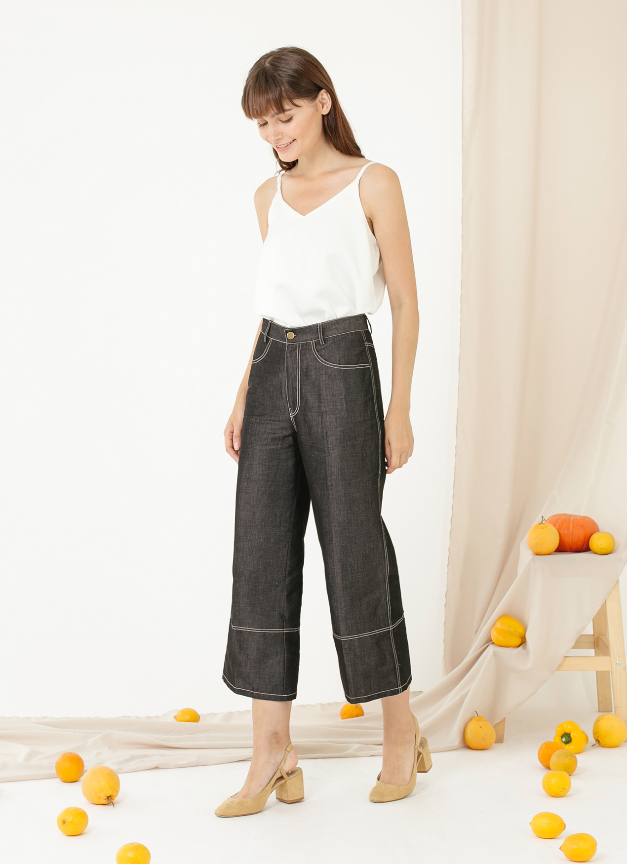 CLOTH INC Ed Culottes - Black