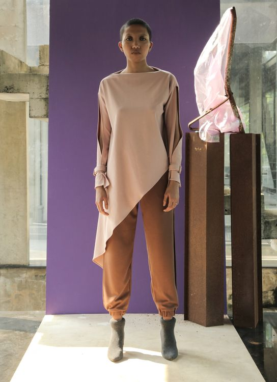 Avgal Collection Deidre Top - Dusty Pink