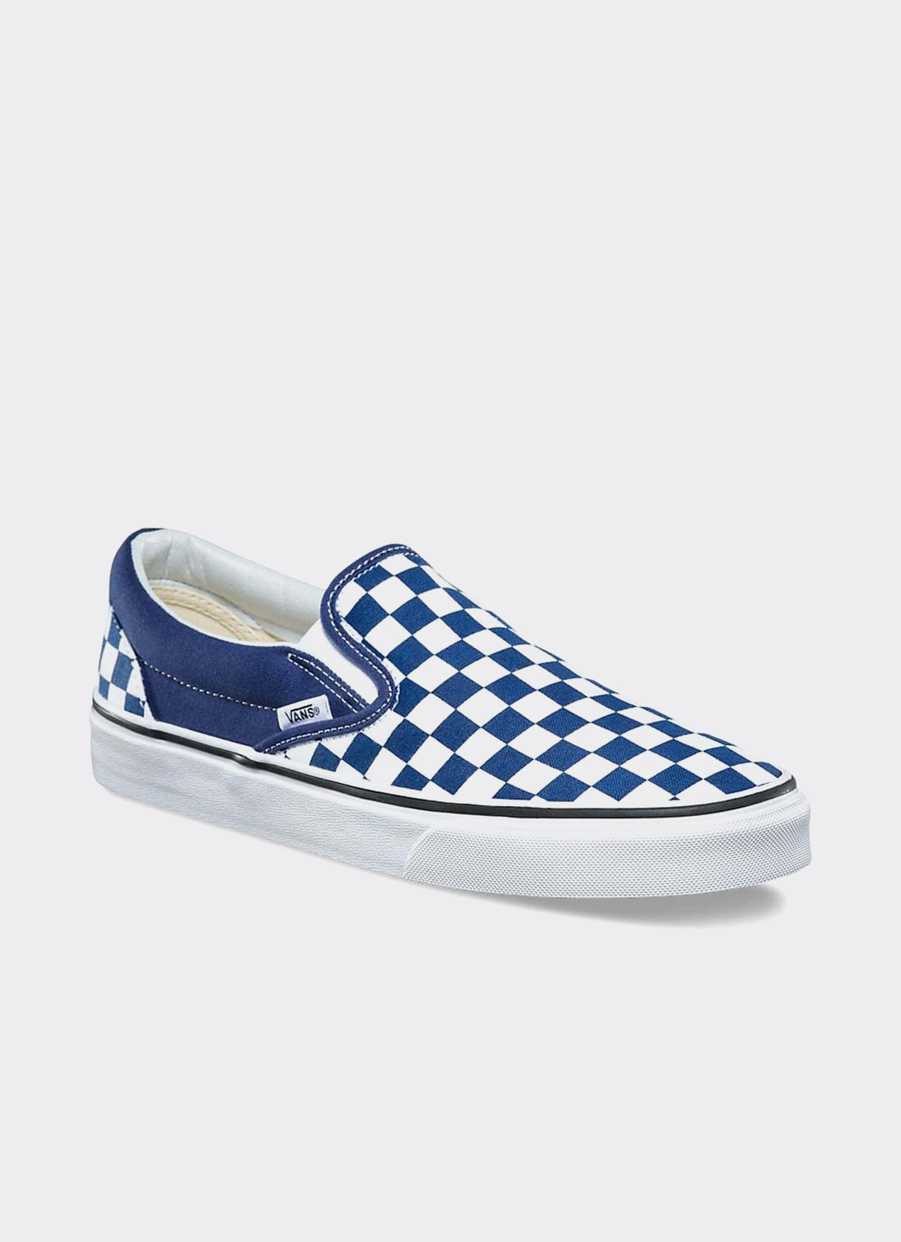 VANS Blue Checkerboard Slip-On Sneakers