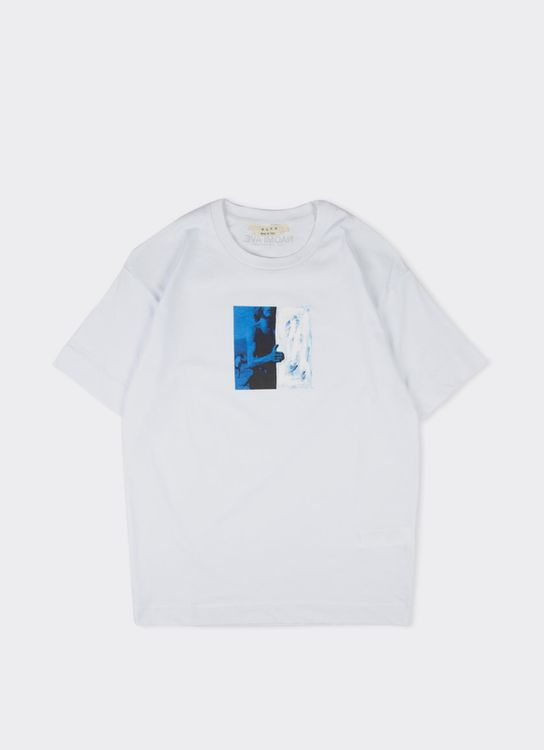 ALYX White with Blue Woman Paint T-Shirt