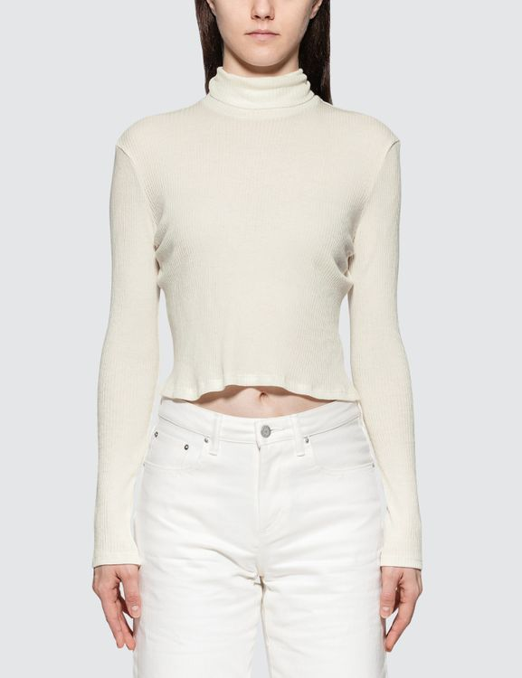 JOHN ELLIOTT Rib Cropped Turtle Neck