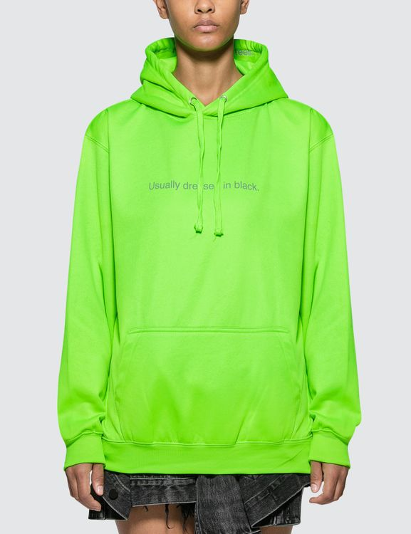 F.A.M.T. Usually Dressed In Black. Neon Hoodie