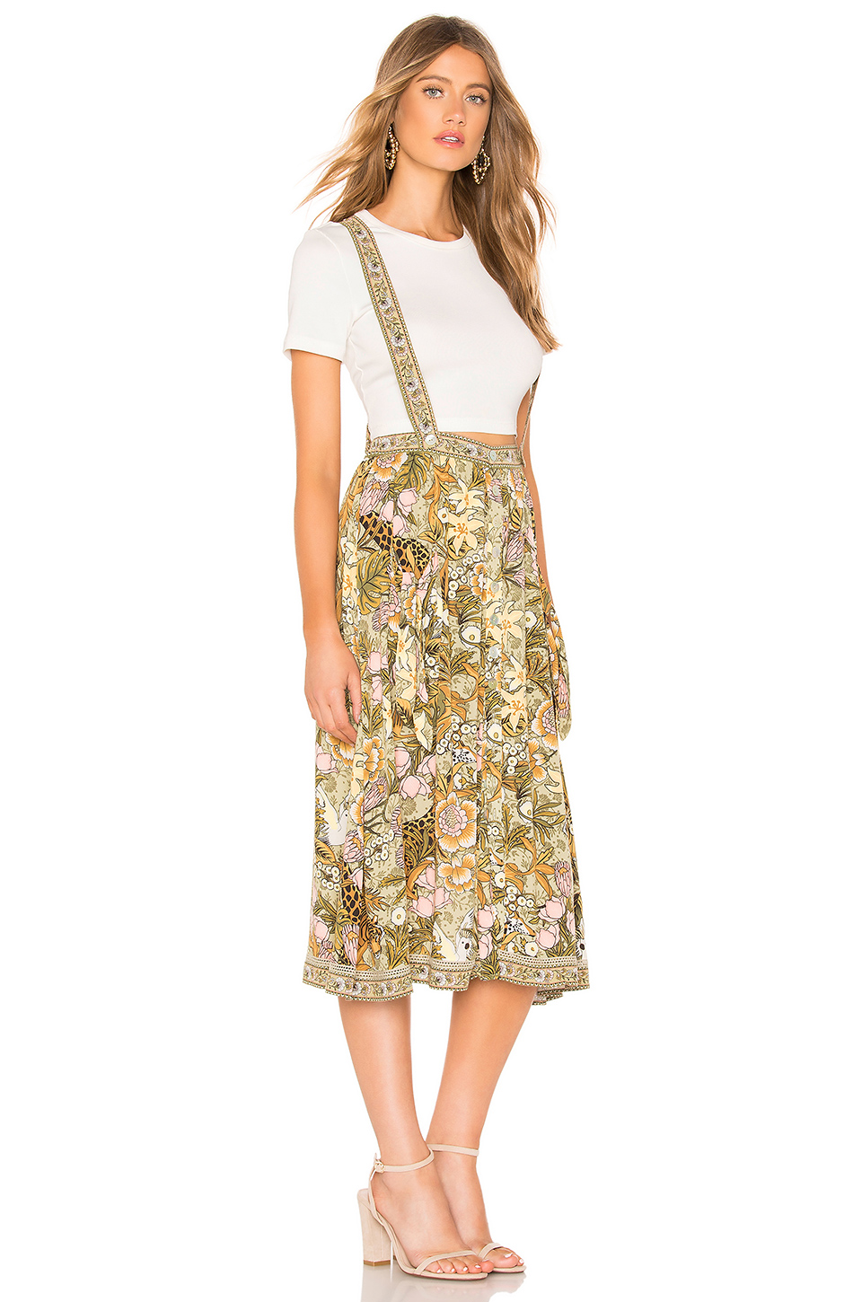 65f4c803880 Buy Original Spell   The Gypsy Collective Jungle Midi Skirt at ...
