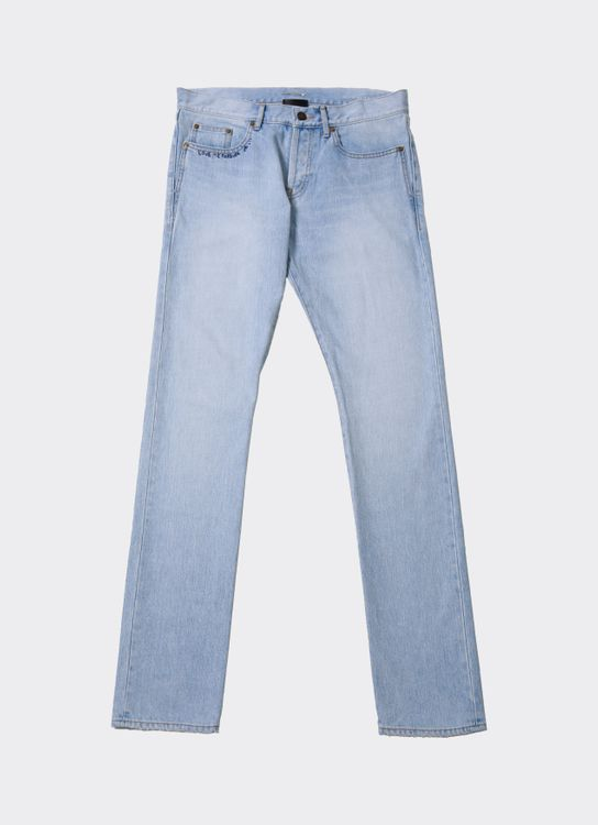 Saint Laurent Blue Love Me More Washed Jeans