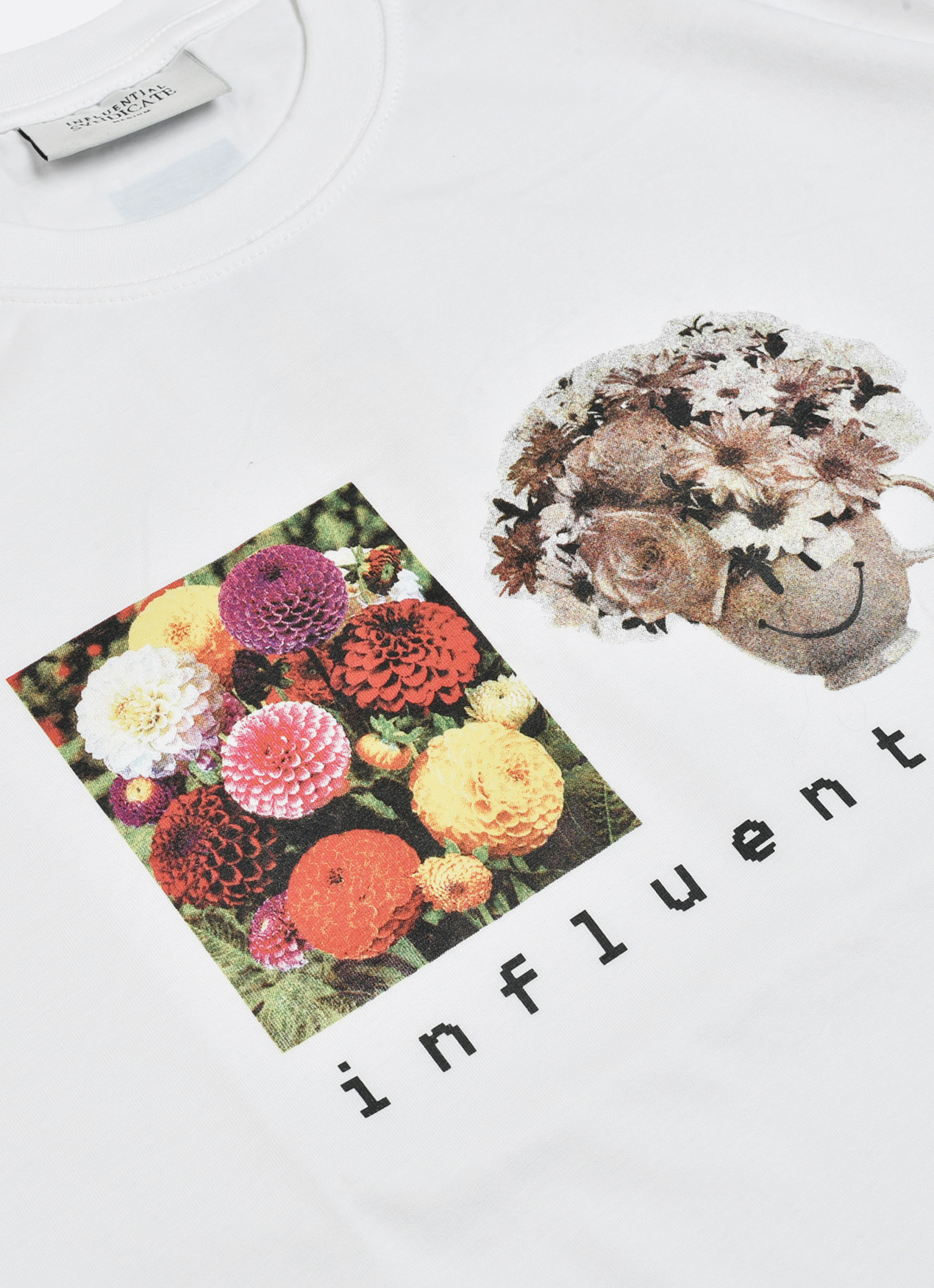 ab98b33183734 Buy Original Influential Syndicate Flower T-Shirt - White at Indonesia ...