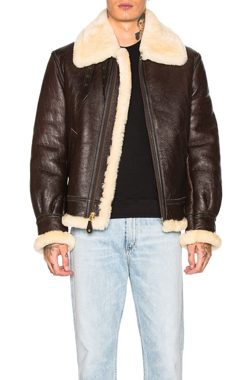 Schott B-3 Sheepskin Leather Bomber Jacket
