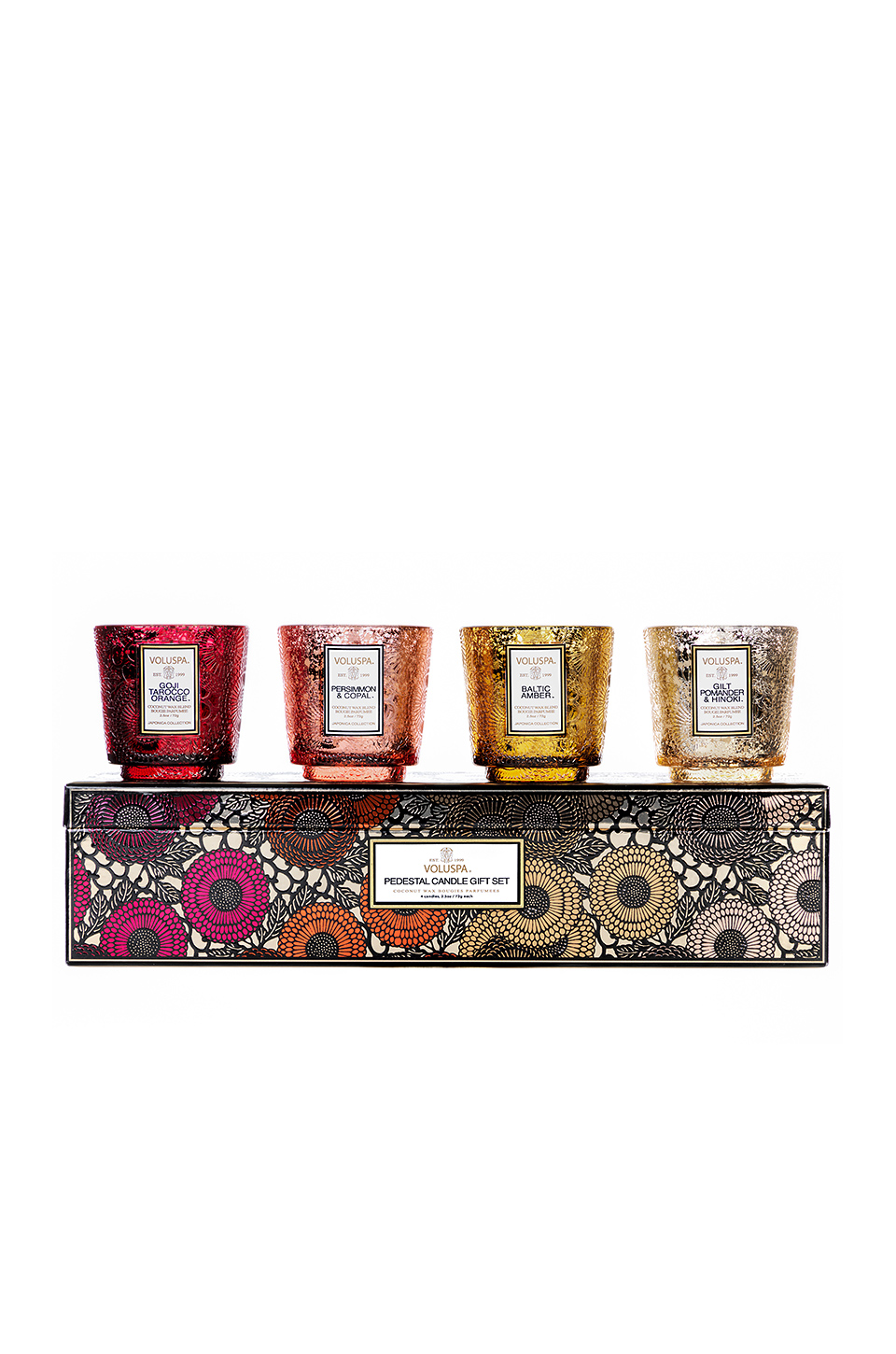 Voluspa Pedestal Warm Tones Gift Set