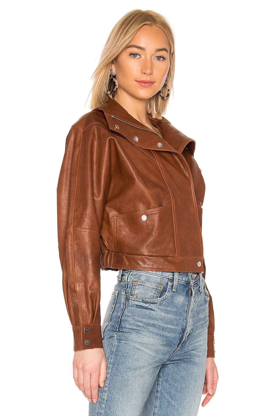 LPA Oversized Leather Jacket