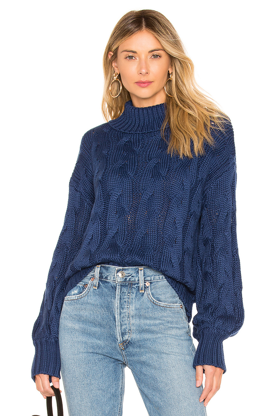 For Love & Lemons Charlotte Turtleneck Sweater