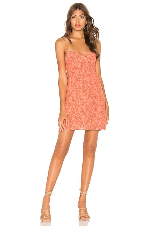 AUGUSTE Florence Tie Slip Mini Dress