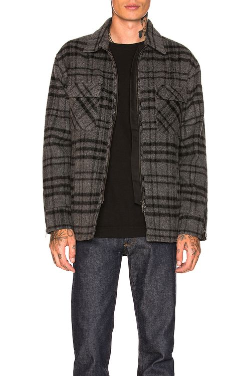ZANEROBE Rugger Plaid Shacket