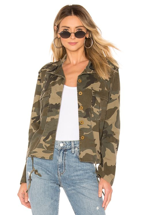KENDALL + KYLIE Embroidery Camo Jacket