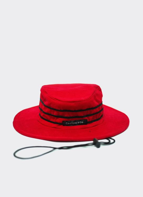 Cool Caps Flat Hat Stripe - Red
