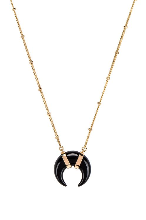 Elizabeth Stone Cat's Eye Crescent Necklace