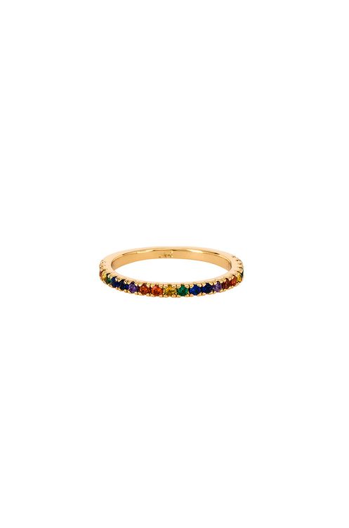 Five and Two Maria Rainbow Stone Ring