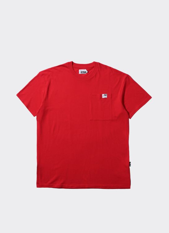 Izzue Red Zip Pocket T-Shirt