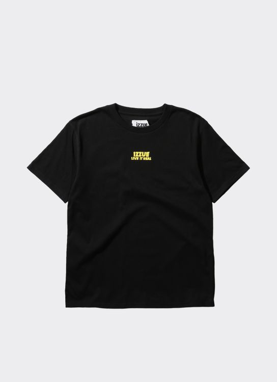 Izzue Black Basic Woven Label T-Shirt
