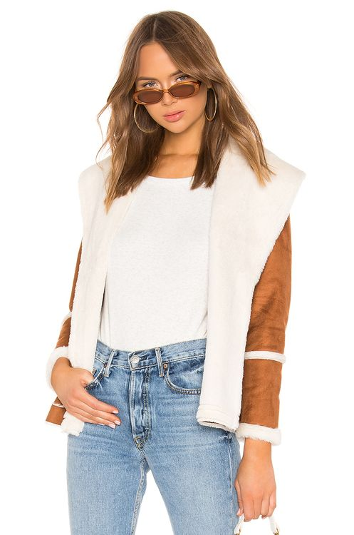 Chaser Faux Fur Lined Suede Jacket