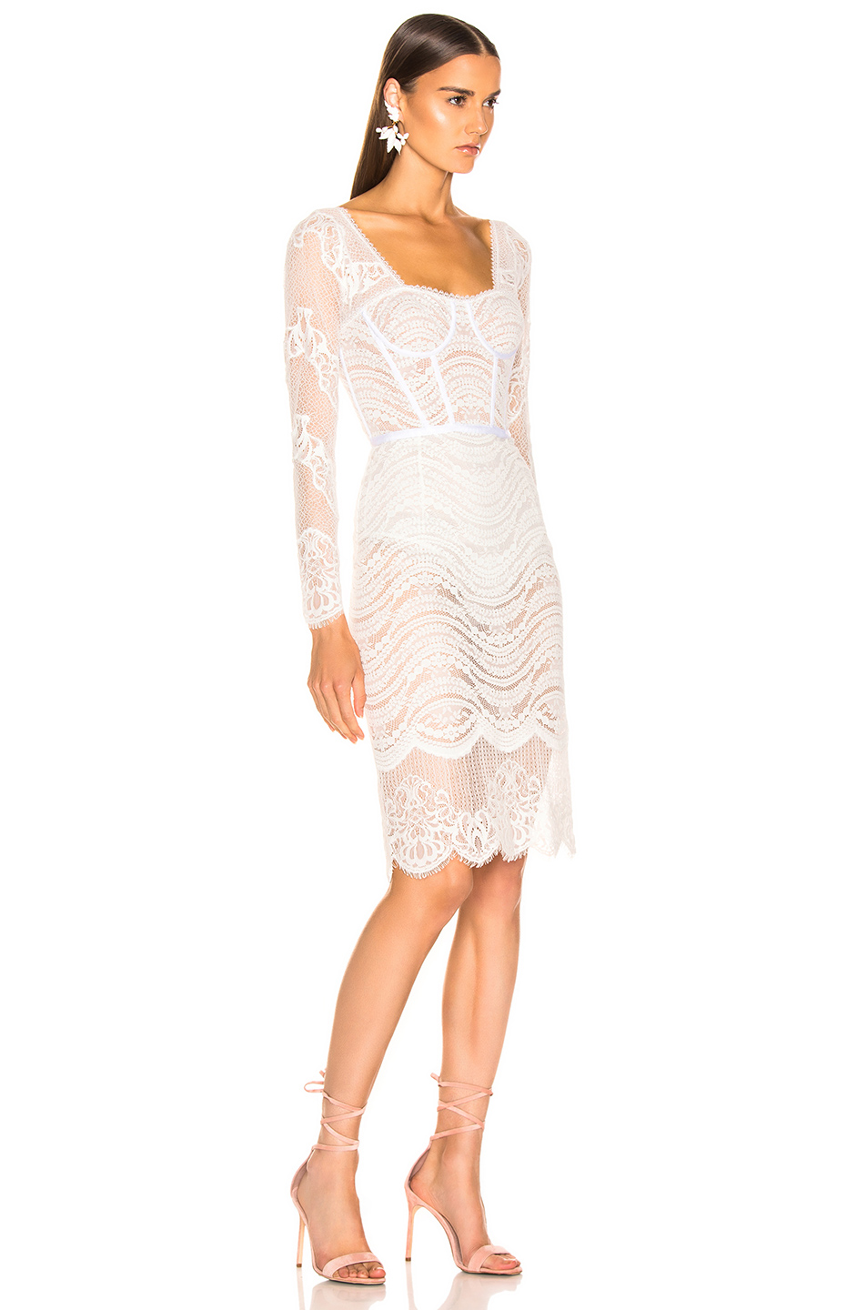 3d792f56d04 Lace Bustier Bodysuit Dress, JONATHAN SIMKHAI