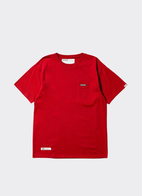 NHIZ Red Basic Pocket T-Shirt