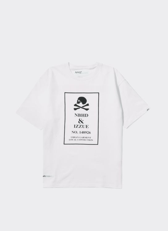 NHIZ White FT+BK Logo T-Shirt