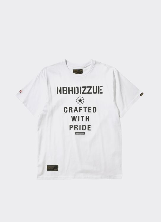 NHIZ White Slogan Printed T-Shirt