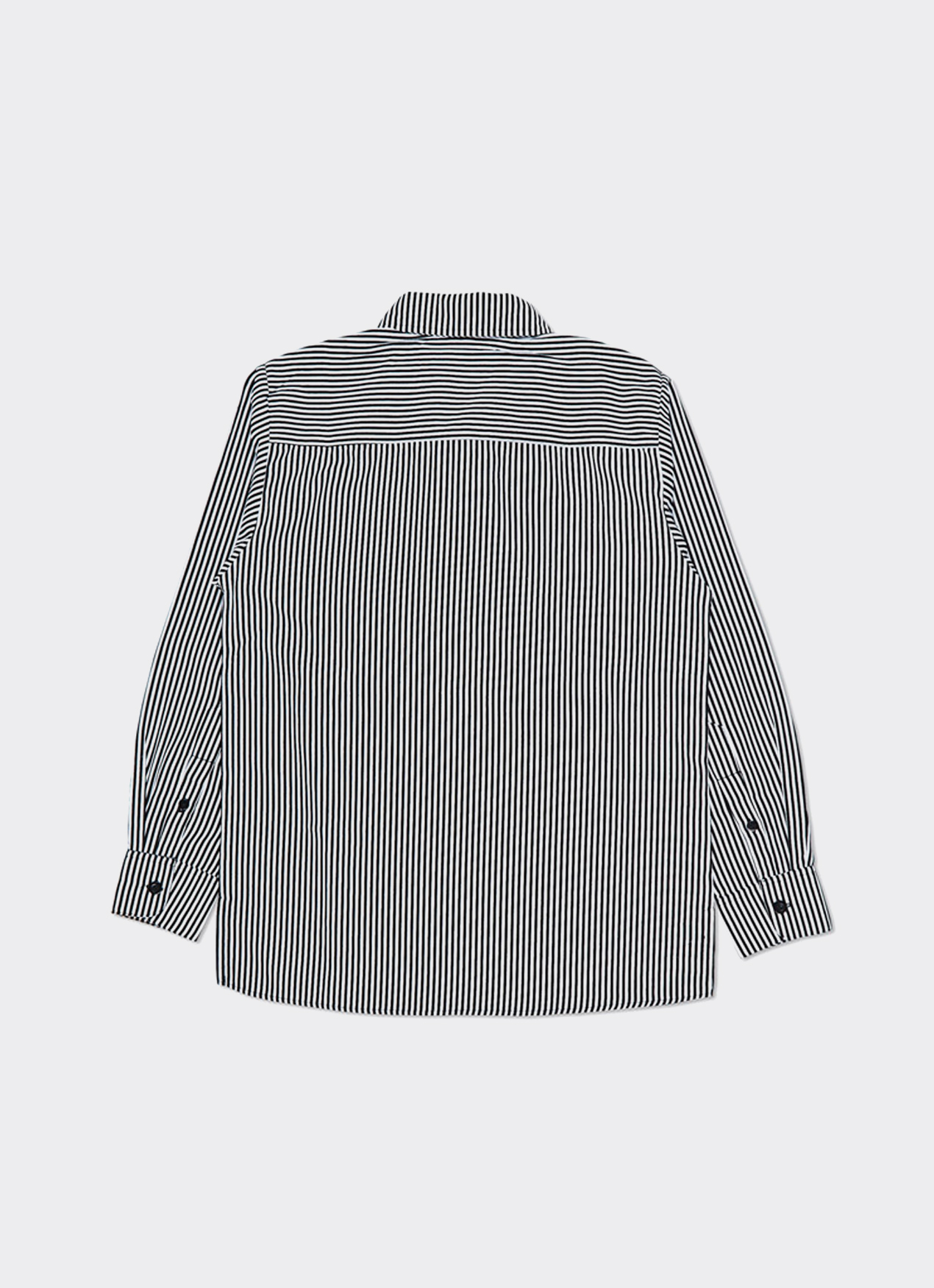 Leisure Leisure Stripe Safetypin LS Shirt - White