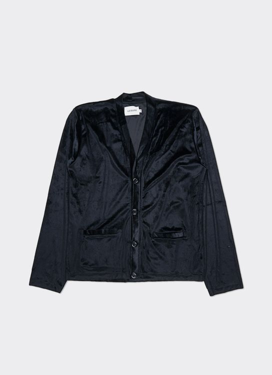 Leisure Leisure Velour Cardigan - Black