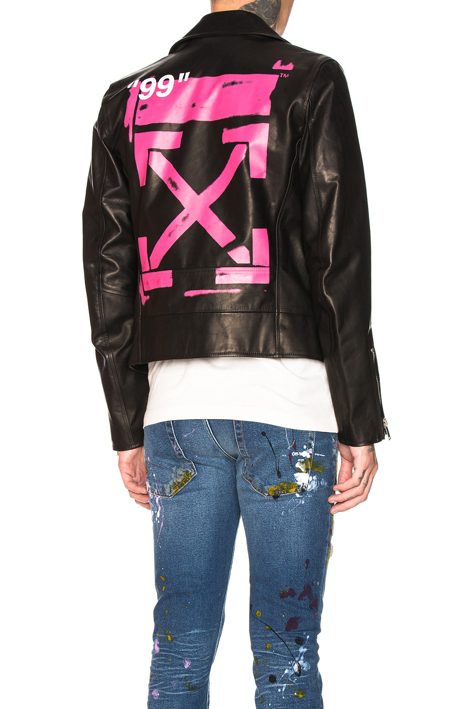e8f8bfe84 Leather Biker, OFF-WHITE